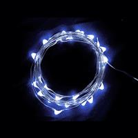USB 5V 防水型銀絲燈(10燈 1M)白光
