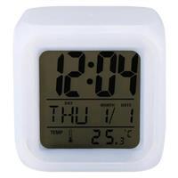 彰唯 炫彩變色創意電子時鐘+溫度顯示 C-409