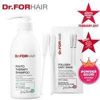 【熱銷組】Dr.FORHAIR草本舒敏洗髮乳500ml+頭皮清潔棉花棒10包