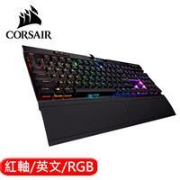 CORSAIR 海盜船 K70 RGB MK.2 Low Profile 電競鍵盤 紅軸 英文