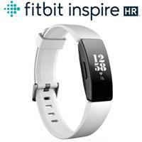 Fitbit Inspire HR 智能健身手環(黑框白錶帶)