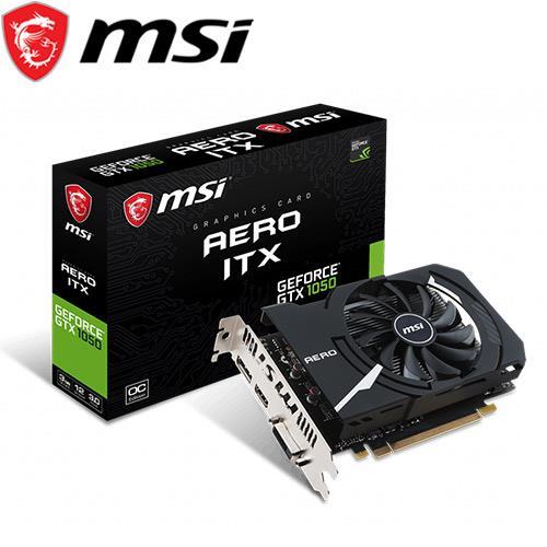 MSI微星 GeForce GTX 1050 AERO ITX 3G OC 顯示卡