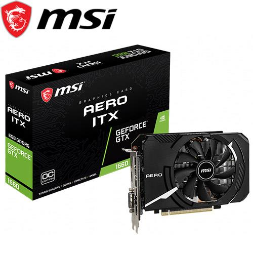 MSI微星 GeForce GTX 1660 AERO 6G OC 顯示卡