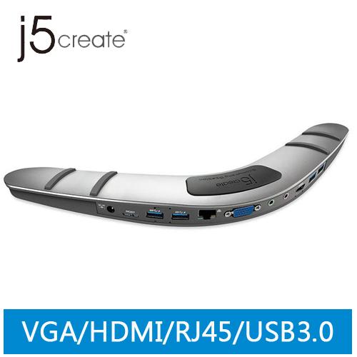j5 JUD480 USB 3.0迴力鏢筆電擴充基座