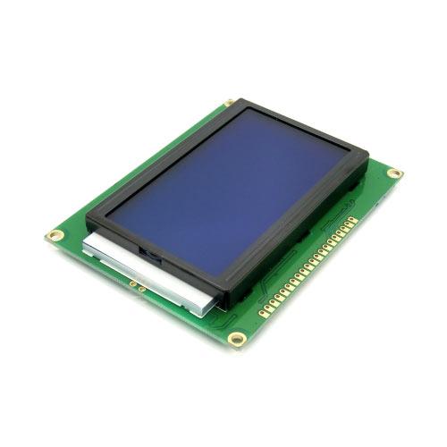 LCD12864藍屏/中文字型/背光液晶顯示模組5V ST7920