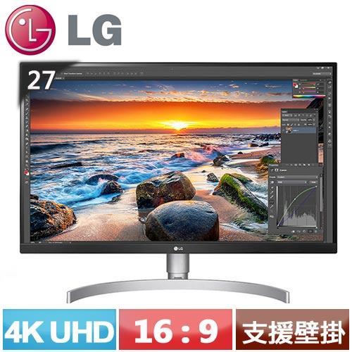 LG 27型 4K UHD IPS液晶螢幕 27UL850-W【登錄送LED護眼臂燈】