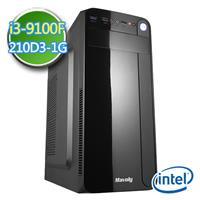 技嘉B360平台【EPC9I3B3601】i3四核 N210-1G獨顯 SSD 480G效能電腦