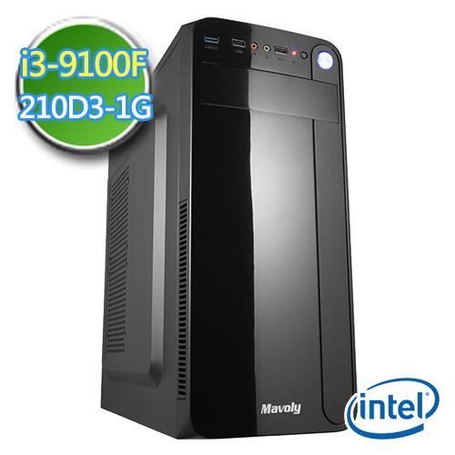 技嘉B360平台【EPC9I3B3602】i3四核 N210-1G獨顯 2TB效能電腦