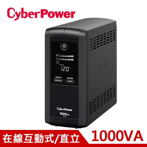 CyberPower 1KVA 在線互動式UPS不斷電系統 CP1000AVRLCDa