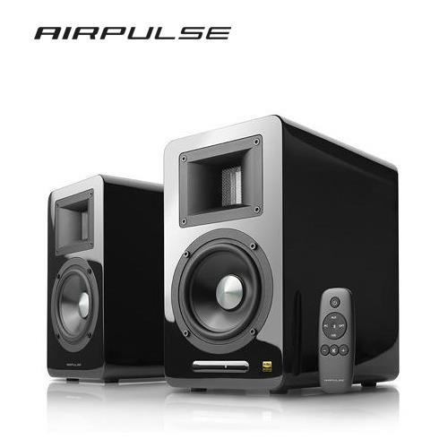 AIRPULSE A100 2.0聲道 藍牙喇叭音響 (黑)