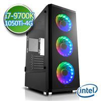 技嘉Z390平台【闇焱騎兵II】i7八核 GTX1050Ti-4G獨顯 SSD 240G效能電腦