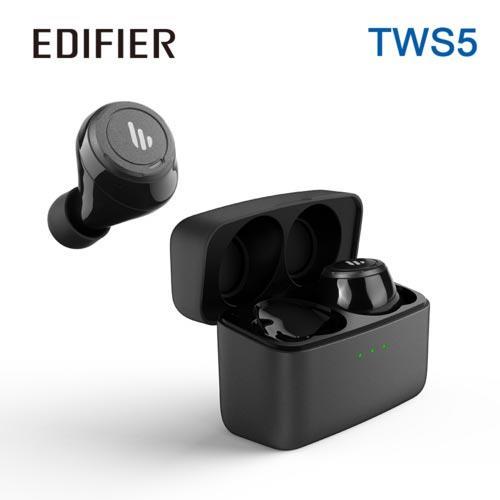 Edifier 漫步者 TWS5 真無線立體聲藍牙耳機 黑