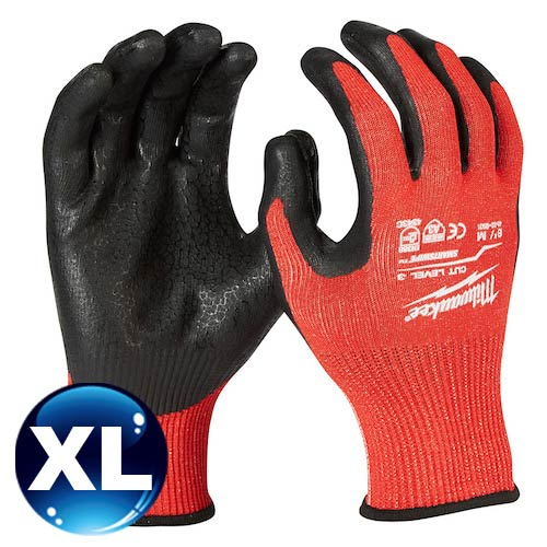 Milwaukee米沃奇 第三級認證防割手套 (XL) 48-22-8933