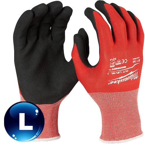 Milwaukee米沃奇 第一級認證防割手套 (L) 48-22-8902