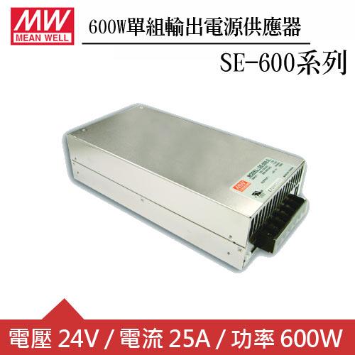 MW明緯 SE-600-24 24V機殼型交換式電源供應器 (600W)