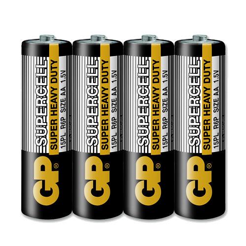 GP超霸 3號超級碳鋅電池 (AA) 4入 黑色