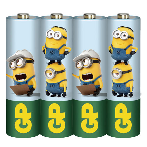 GP超霸 3號碳鋅電池(AA) 4入 小小兵