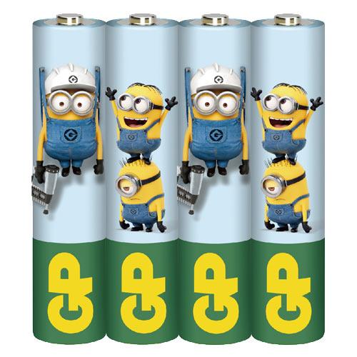 GP超霸 4號碳鋅電池(AAA) 4入 小小兵