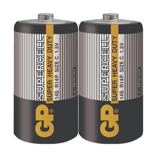 GP超霸 2號超級碳鋅電池(C) 2入  黑色