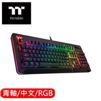 Thermaltake 曜越 Level 20 RGB Cherry機械式黑版電競鍵盤 青軸