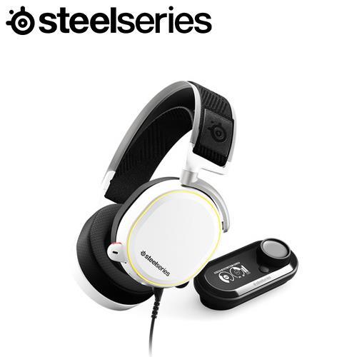 SteelSeries 賽睿 Arctis Pro+GameDAC 電競耳機麥克風 (白)