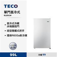 東元99L直冷式冰箱  R1091W