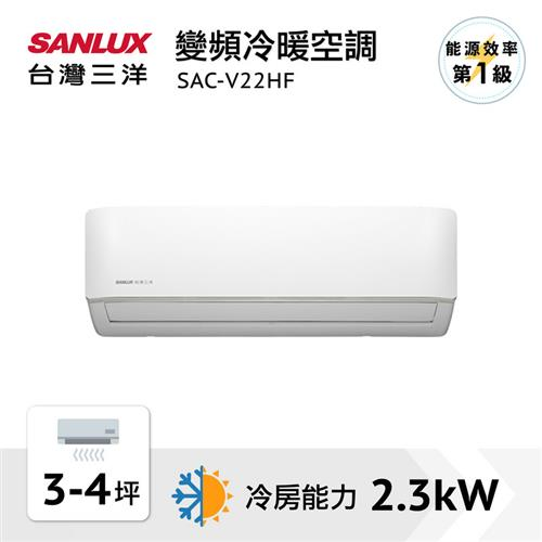 台灣三洋變頻分離冷暖時尚型  SAC-V22HF
