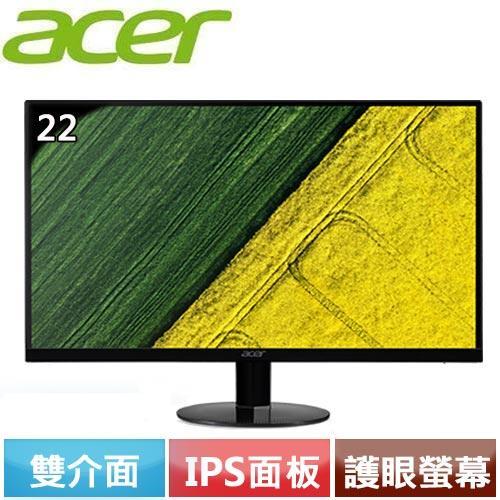 Acer宏碁 SA220Q A 22型 IPS寬螢幕