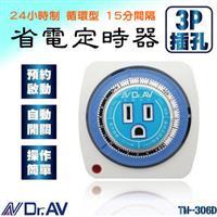 聖岡 省電定時器 3P插座 24小時制 48段設定 自動關閉 15A 1750W