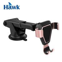 Hawk G6 吸盤式重力感應手機架 玫瑰金