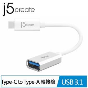 j5 凱捷 USB3.1 Type-C to Type-A 轉接線 (JUCX05)
