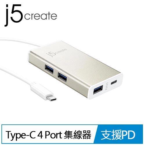 j5 JCH346 USB Type-C 4 Port 集線器