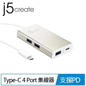 j5 JCH346 USB Type-C 4 Port 集線器