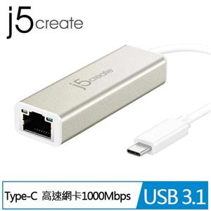 J5 JCE131 Type C 超高速外接網路卡