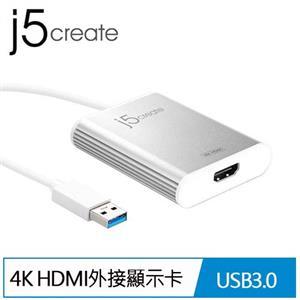 j5 JUA354 USB 3.0 to 4K HDMI外接顯示卡