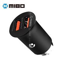 MIBO 雙QC 4.0 27W 鋅合金 USB 車充