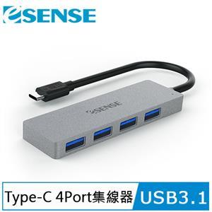 Esense Type-C USB3.1 高速傳輸4埠HUB 01-ELS545GA