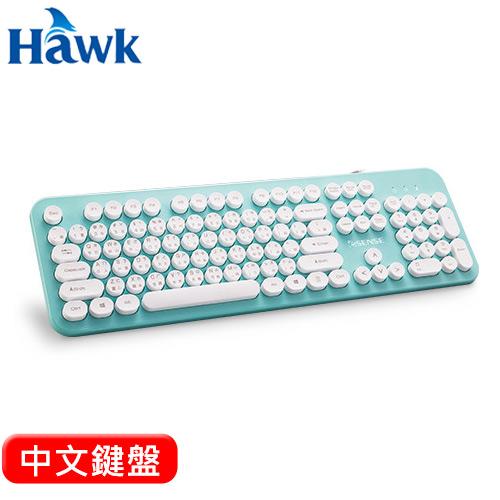 HAWK 逸盛 Esense 3700 復古圓形標準鍵盤 綠