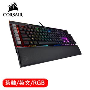 CORSAIR 海盜船 K95 RGB PLATINUM XT機械電競鍵盤 茶軸 英文