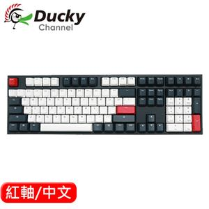 Ducky ONE 2 Tuxedo 燕尾服 機械鍵盤 紅軸 中文