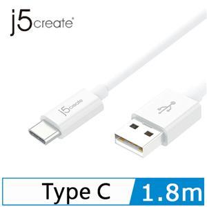 j5  JUCX08 Type-C USB2.0傳輸線 1.8M