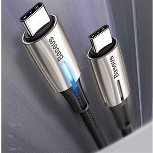 倍思 LED柔光 PD2.0 60W Type-C TO Type-C 閃電快充線 1米 黑色