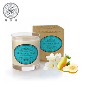 英國賽玫特Somer自然歐洲植物蠟香氛蠟燭200g-英國梨與小蒼蘭