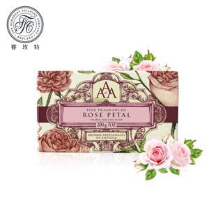英國賽玫特Somer AAA花卉護膚香皂200g-玫瑰花瓣X3