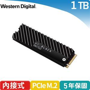 WD 威騰 黑標 SN750 1TB NVMe PCIe SSD固態硬碟(EKWB散熱片)