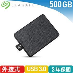 Seagate One Touch 500GB 外接SSD 霧夜黑