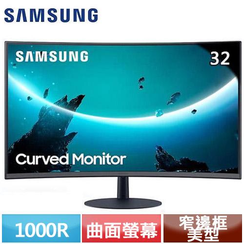 R1【福利品】SAMSUNG三星 32型 C32T550FDC 1000R曲面液晶螢幕