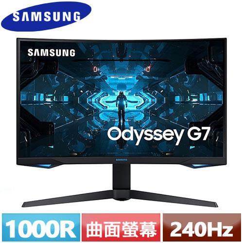 R1【福利品】SAMSUNG三星 27型 1000R曲面電競螢幕 C27G75TQSC.
