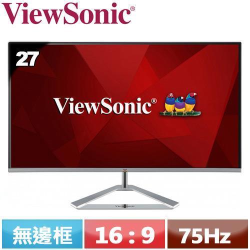 R1【福利品】ViewSonic優派 27型 時尚無邊框IPS螢幕 VX2776-SH.