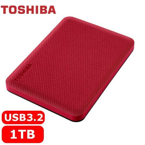 TOSHIBA Canvio Advance V10 1TB 外接式硬碟 紅